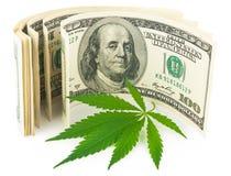 Конопля и деньги Стоковая Фотография RF