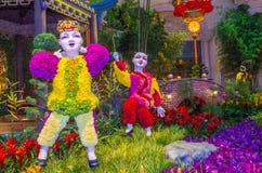Консерватория гостиницы Bellagio & ботанические сады Стоковые Изображения