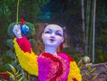 Консерватория гостиницы Bellagio & ботанические сады Стоковые Изображения RF