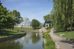 Консерватория парка Como на ярком после полудня лета стоковая фотография