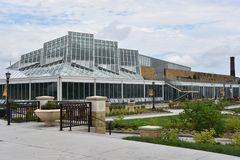 Консерватория Marjorie McNeely в St Paul, Минесоте Стоковая Фотография RF