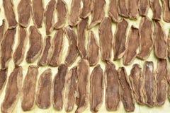 Консервация еды сухой соленой капусты куска китайская на мешке стоковое фото rf