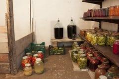 Консервация дома овощей и плодоовощ стоковое фото