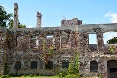 Консервация старых руин стоковые фото