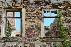Консервация старых руин стоковая фотография