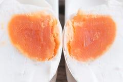 Консервация с солью меню яичка посоленное яичко утки стоковые изображения