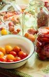 Консервация томатов стоковые фотографии rf