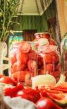 Консервация томатов стоковое фото rf