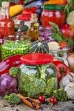 Консервация фрукта и овоща стоковая фотография