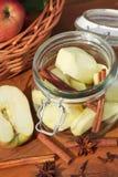 Консервация яблок стоковая фотография