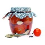 Консервируя томаты Стоковая Фотография