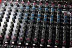 Консоль профессионального смесителя - музыка, концерт Стоковые Изображения RF