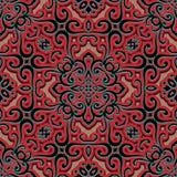 Конспекта орнамент swirly, безшовная картина Стоковые Изображения