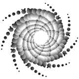 Конспекта элемент спирально monochrome с перекрывая кругами Стоковая Фотография