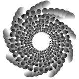 Конспекта элемент спирально monochrome с перекрывая кругами Стоковое Изображение