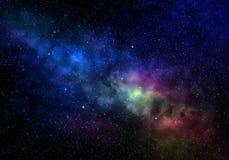 конспект аранжирует положения photocomposite ночи галактики созвездий компьютера предпосылки космический созданный путь звезд зве стоковые фотографии rf