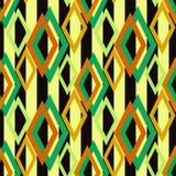 Конспект безшовной предпосылки картины косоугольника ретро геометрический Стоковое Изображение