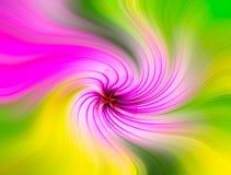 Конспект вертится предпосылка влияния с цветком иллюстрация вектора