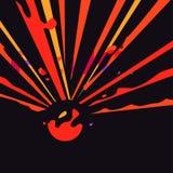 Конспект в красном цвете и желтом цвете Стоковое фото RF
