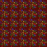 Конспект в фиолетовом, зеленый, красный, желтый цвет Стоковая Фотография RF
