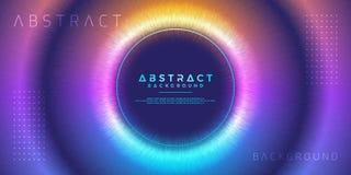 Конспект, динамическая, современная предпосылка круга для вашего элемента дизайна и другие иллюстрация вектора