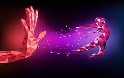 Конспект заграждения технологической руки полигона бесплатная иллюстрация