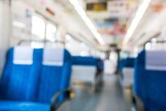 Конспект запачкал интерьер транспорта дела поезда и t Стоковая Фотография