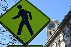 Конспект знака Crosswalk Стоковые Изображения RF