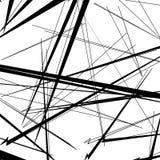 Конспект, линии сложной формы картина, предпосылка Monochrome geomet Стоковые Фото