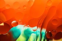 Конспект искусства макроса воды и масла стоковые изображения rf