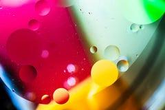 Конспект искусства макроса воды и масла стоковое фото rf