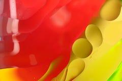 Конспект искусства макроса воды и масла стоковая фотография rf