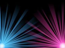 конспект испускает лучи голубой свет иллюстрации - пинк иллюстрация штока