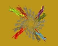 Конспект и круг пшеницы иллюстрация штока