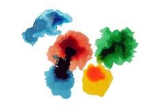 конспект капает краска падений Стоковое фото RF