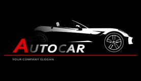 Конспект логотипа автомобиля выравнивает вектор также вектор иллюстрации притяжки corel Стоковое Фото