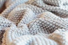 Конспект мягкого одеяла хода Knift серого стоковая фотография