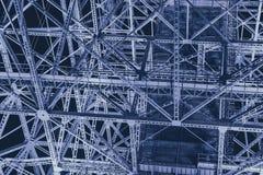 Конспект науки стальной конструкции металлургии футуристический для предпосылки Стоковая Фотография