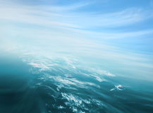 Конспект неба моря Стоковая Фотография RF