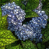 Конспект объезжает картину природы предпосылки мозаики Стоковые Фото