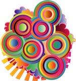 конспект объезжает цветастые линии Стоковые Изображения RF