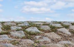 Конспект дороги Cobbelstone Стоковая Фотография