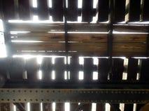 Конспект под мостом железнодорожного поезда железной дороги Стоковое фото RF