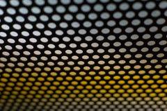 Конспект поставил точки черно-белая текстура в полезном металла материальное для предпосылки Стоковые Фотографии RF