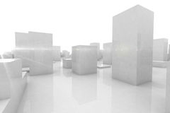 Конспект преграждает город иллюстрация вектора