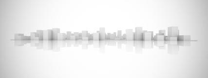 Конспект преграждает город Стоковое Изображение RF
