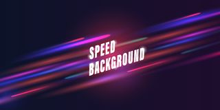 Конспект предпосылки скорости с накаляя цветными барьерами blured в движ иллюстрация вектора
