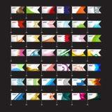 Конспект предпосылки флага На черной предпосылке вектор Стоковая Фотография RF