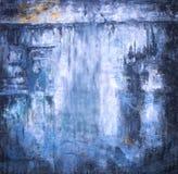 Конспект предпосылки искусства голубой огорчил античную темную текстуру предпосылки Стоковое Фото