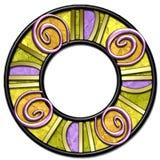 конспект произвел руку рамки круглую Стоковые Изображения RF